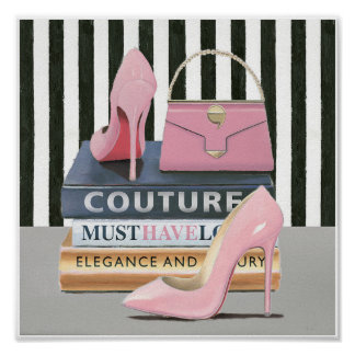 Wild Apple | Couture Stripes - Shoes & Bag Poster