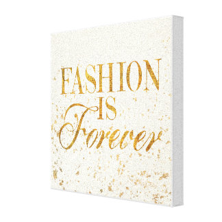 Wild Apple | Fashion Is Forever - Girly Quote Canvas Print