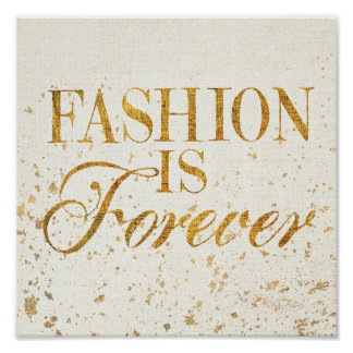 Wild Apple | Fashion Is Forever - Girly Quote Poster