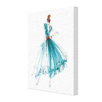 Wild Apple | Haute Couture Fashion Sketch Canvas Print