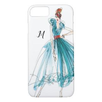 Wild Apple | Haute Couture Fashion Sketch iPhone 8/7 Case