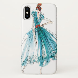 Wild Apple | Haute Couture Fashion Sketch iPhone X Case