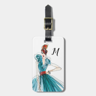 Wild Apple | Haute Couture Fashion Sketch Luggage Tag