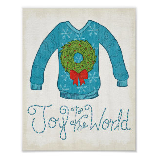 Wild Apple | Joy To The World - Christmas Sweater Poster