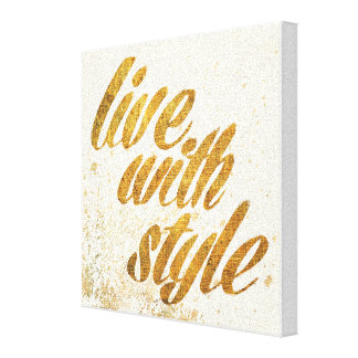 Wild Apple | Live With Style - Girly Quote Canvas Print