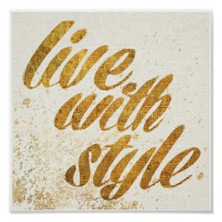 Wild Apple | Live With Style - Girly Quote Poster