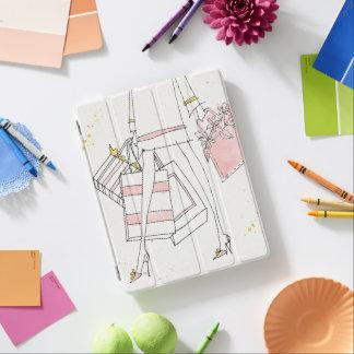 Wild Apple | Modern Pink Fashion Sketch iPad Cover