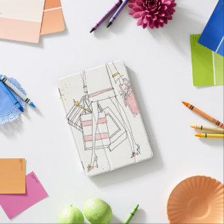 Wild Apple | Modern Pink Fashion Sketch iPad Mini Cover