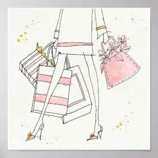 Wild Apple | Modern Pink Fashion Sketch Poster