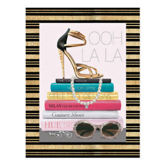Wild Apple   Ooh La La - Glamorous Stiletto Postcard