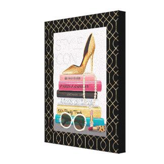 Wild Apple | Style Icon - Gold Stiletto Canvas Print