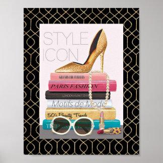 Wild Apple | Style Icon - Gold Stiletto Poster