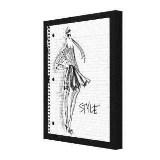Wild Apple | Style Icon - Modern Sketch Canvas Print