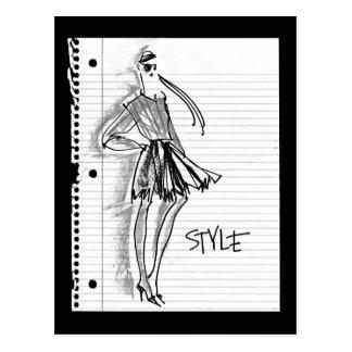 Wild Apple   Style Icon - Modern Sketch Postcard