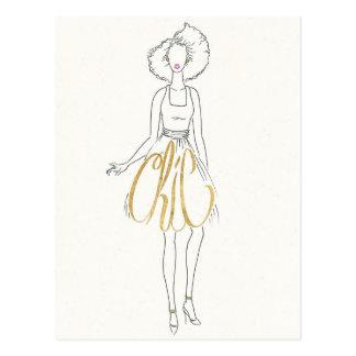 Wild Apple   Style Sayings - Chic Dress Postcard