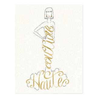 Wild Apple   Stylish Sayings - Couture Haute Dress Postcard