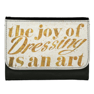 Wild Apple | The Joy Of Dressing - Girly Quote Leather Wallets