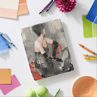 Wild Apple | Vintage Watercolor Woman iPad Cover