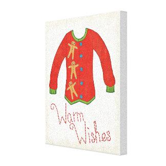 Wild Apple | Warm Wishes - Gingerbread Man Canvas Print