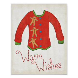 Wild Apple | Warm Wishes - Gingerbread Man Poster