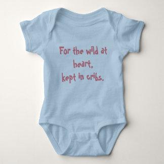 Wild at heart baby blue baby bodysuit