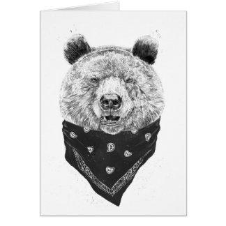 Wild bear card