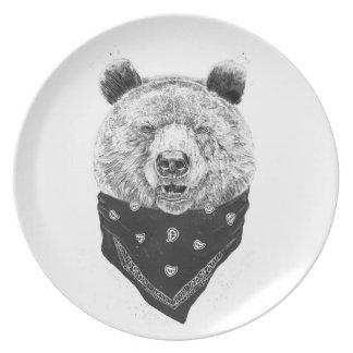 Wild bear plate