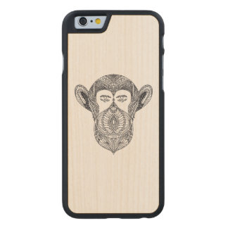 Wild Beast Of The Forest Doodle Carved Maple iPhone 6 Case