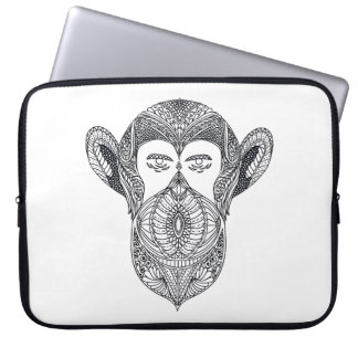 Wild Beast Of The Forest Doodle Laptop Sleeve