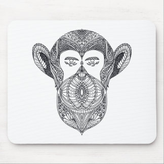 Wild Beast Of The Forest Doodle Mouse Mat