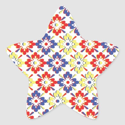 Wild Beauty Flower Collection Star Stickers