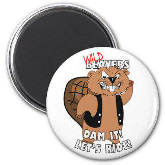 Wild Beavers - Fridge Magnet