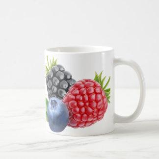 Wild berries basic white mug