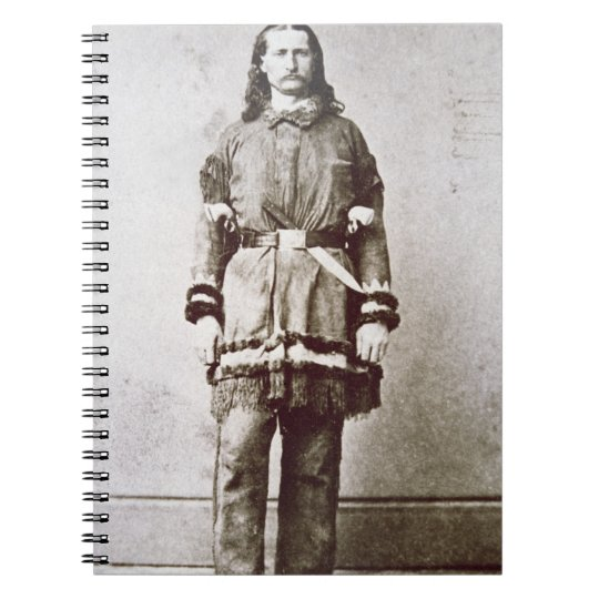 'Wild Bill' Hickok (1837-76) (b/w photo) Notebook