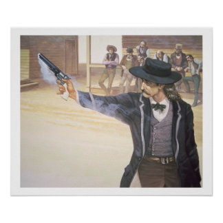 'Wild Bill' Hickok (1837-76) demonstrates his mark Poster
