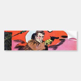 Wild Bill Hickok Comic Bumper Sticker