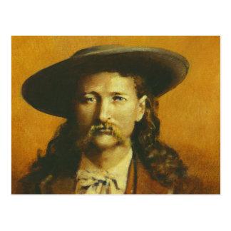 Wild Bill Hickok Illustration Postcard