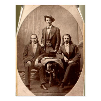 Wild Bill Hickok - Texas Jack - Buffalo Bill Postcard