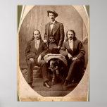 Wild Bill Hickok - Texas Jack - Buffalo Bill Poster