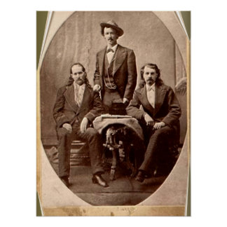 Wild Bill Hickok - Texas Jack - Buffalo Bill Poster