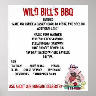WILD BILL S BBQ MENU PRINT