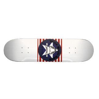 Wild Bill's Guns White Board Star and Stripes Skate Board