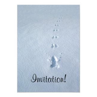 Wild Bird Footprints in Snow Personalized Invitation