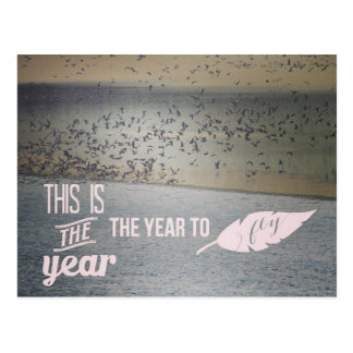 Wild Birds Flying, This is the Year Postcard