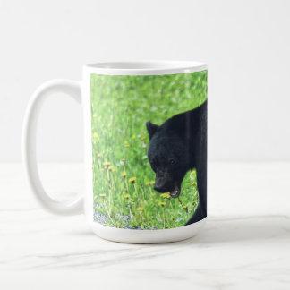 Wild Black Bear Walking in Grass 3 Basic White Mug