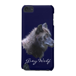 Wild Black Grey Wolf Wildlife-Supporter Ipod Case
