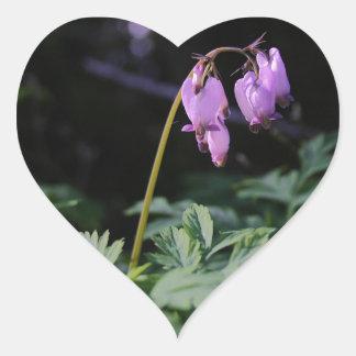 Wild Bleeding Hearts Heart Sticker