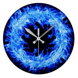Wild blue and black clock