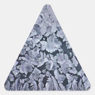 Wild Blue Frost Garden Triangle Sticker