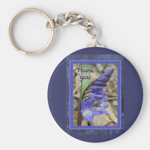 Wild Blue Hyacinth Thank You Keychain